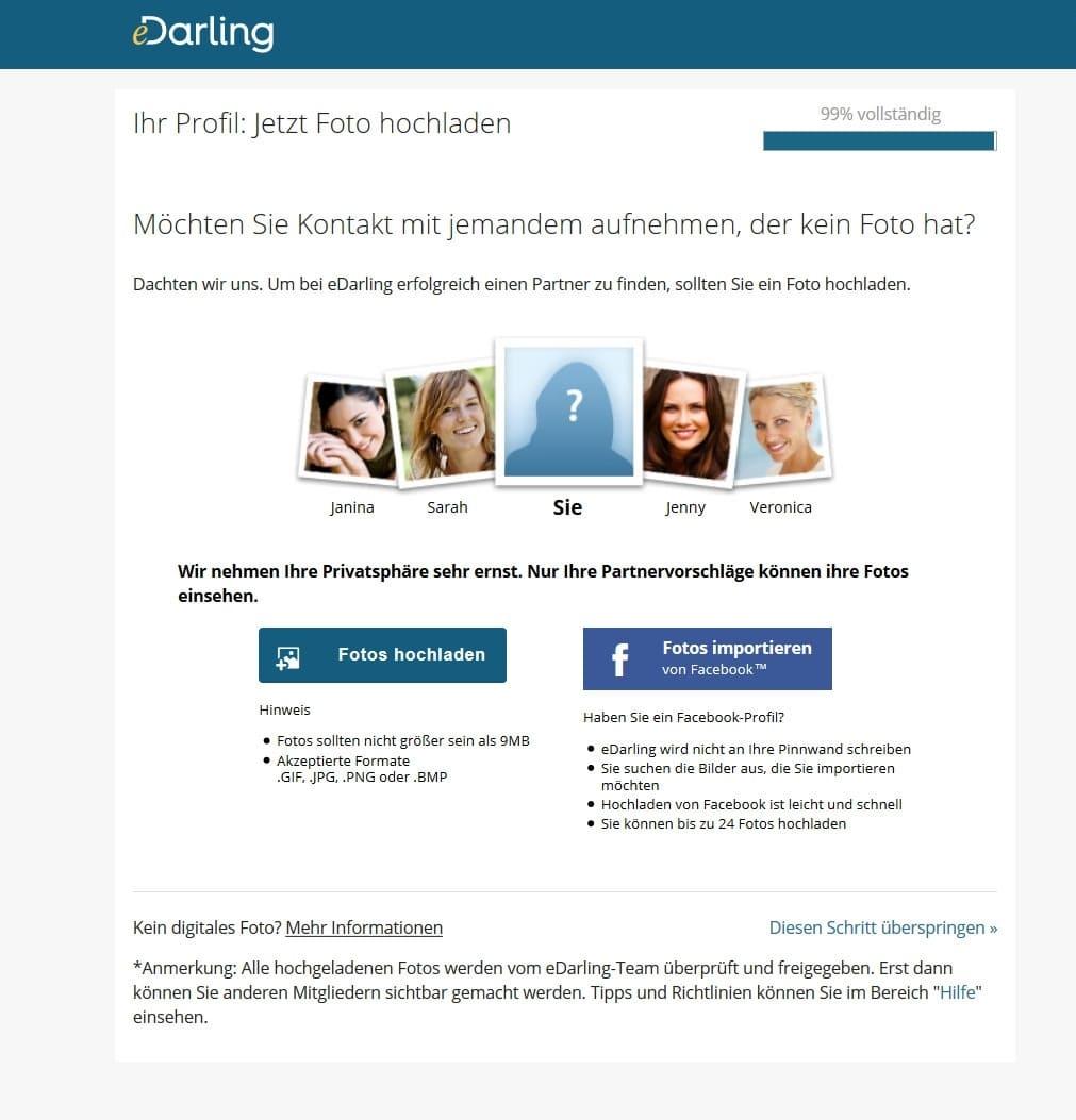 eDarling Profil erstellen
